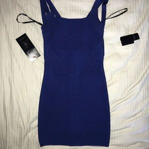 Dark Blue Bandage Strap Night Out Dress